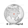 """Outline Map of the Area around 39° 3' 25"""" N, 95° 16' 30"""" E, rectangular outline"""