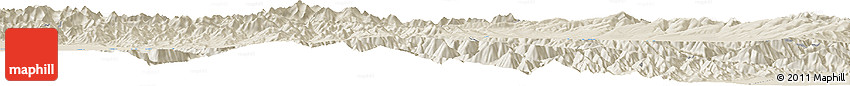 """Shaded Relief Horizon Map of the Area around 39° 3' 25"""" N, 98° 40' 30"""" E"""