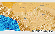 """Political 3D Map of the area around 39°3'25""""N,99°31'30""""E"""