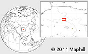 """Blank Location Map of the area around 39°3'25""""N,99°31'30""""E"""