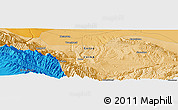 """Political Panoramic Map of the area around 39°3'25""""N,99°31'30""""E"""
