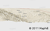 """Shaded Relief Panoramic Map of the area around 39°3'25""""N,99°31'30""""E"""
