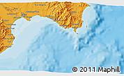 Political 3D Map of Cagliari