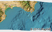 Satellite 3D Map of Cagliari