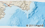 Shaded Relief 3D Map of Cagliari