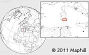 Blank Location Map of Cagliari
