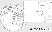 """Blank Location Map of the area around 39°3'25""""N,9°16'30""""W"""