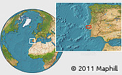 """Satellite Location Map of the area around 39°3'25""""N,9°16'30""""W"""