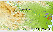 """Physical 3D Map of the area around 39°30'19""""N,0°46'30""""W"""