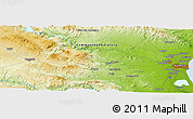 """Physical Panoramic Map of the area around 39°30'19""""N,0°46'30""""W"""