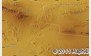 """Physical Map of the area around 39°30'19""""N,100°22'30""""E"""
