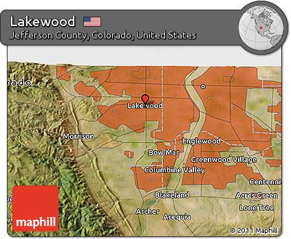 Free Satellite 3D Map of Lakewood