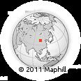 Outline Map of Wuda, rectangular outline