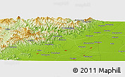 """Physical Panoramic Map of the area around 39°30'19""""N,115°40'30""""E"""