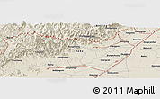 """Shaded Relief Panoramic Map of the area around 39°30'19""""N,115°40'30""""E"""