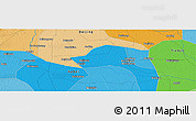 """Political Panoramic Map of the area around 39°30'19""""N,116°31'30""""E"""