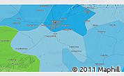 Political 3D Map of Guye