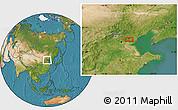 Satellite Location Map of Guye