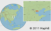 Savanna Style Location Map of Guye