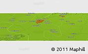 Physical Panoramic Map of Guye