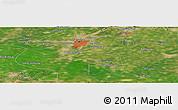Satellite Panoramic Map of Guye