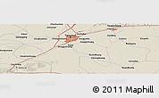 Shaded Relief Panoramic Map of Guye