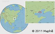 "Savanna Style Location Map of the area around 39°30'19""N,119°55'30""E"