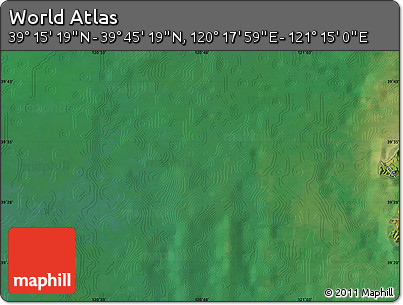 "Satellite Map of the Area around 39° 30' 19"" N, 120° 46' 30"" E"