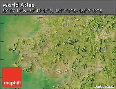 "Satellite Map of the Area around 39°30'19""N,121°37'30""E"
