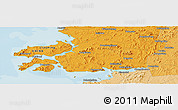 """Political Panoramic Map of the area around 39°30'19""""N,121°37'30""""E"""