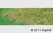 "Satellite Panoramic Map of the area around 39°30'19""N,121°37'30""E"