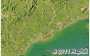 "Satellite Map of the area around 39° 30' 19"" N, 122° 28' 29"" E"