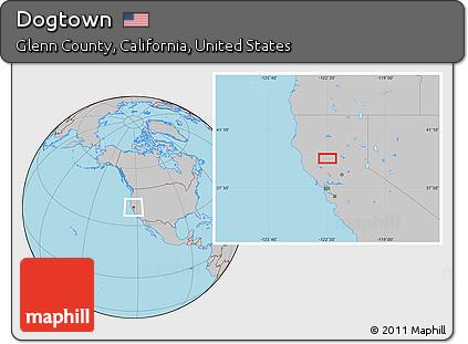 Glenn County California Map.Free Gray Location Map Of Dogtown