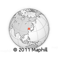 """Outline Map of the Area around 39° 30' 19"""" N, 123° 19' 29"""" E, rectangular outline"""