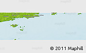 """Physical Panoramic Map of the area around 39°30'19""""N,123°19'29""""E"""