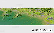 "Satellite Panoramic Map of the area around 39° 30' 19"" N, 125° 1' 30"" E"