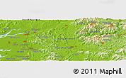Physical Panoramic Map of Sin-ni