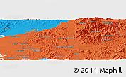 Political Panoramic Map of Sin-ni