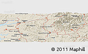 Shaded Relief Panoramic Map of Sin-ni