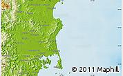 Physical Map of Hŭngch'ŏl-li