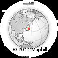 Outline Map of Akita, rectangular outline