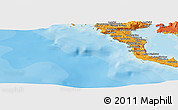 """Political Panoramic Map of the area around 39°30'19""""N,19°37'30""""E"""