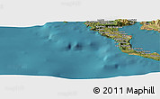 "Satellite Panoramic Map of the area around 39°30'19""N,19°37'30""E"