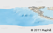 Shaded Relief Panoramic Map of Alepoú