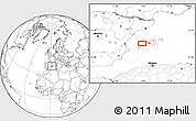 """Blank Location Map of the area around 39°30'19""""N,1°46'29""""E"""