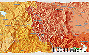 """Political 3D Map of the area around 39°30'19""""N,21°19'30""""E"""