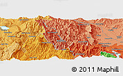 """Political Panoramic Map of the area around 39°30'19""""N,21°19'30""""E"""