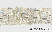 """Shaded Relief Panoramic Map of the area around 39°30'19""""N,21°19'30""""E"""
