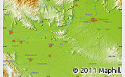 """Physical Map of the area around 39°30'19""""N,22°10'29""""E"""