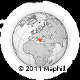 Outline Map of Vólos, rectangular outline